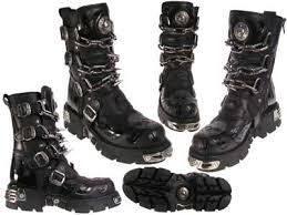 сапоги Newrock, Мужская-Женская, черный, натуральная кожа ...