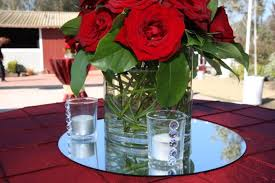 round mirror on table centerpiece - Google Search