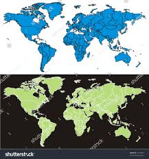 Fully Editable Vector World Map Details Stock Vector Royalty Free