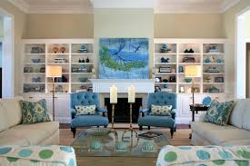 Blue White Stripe Towel Wooden Folding Table Coastal Home Decor Beach House  Ornaments Glass