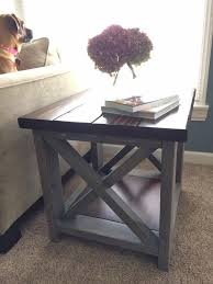 overlapping x farmhouse coffee end table set coffee and end tables set