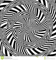 Hypnotic Black And White Stripe Shapes Vector Stock Vector