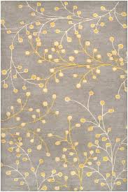 area rug yellow blue