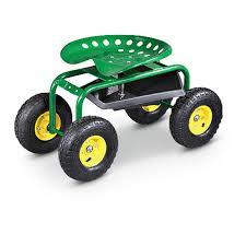 garden seat on wheels. CASTLECREEK Rolling Garden Seat With Built-in Tray On Wheels W