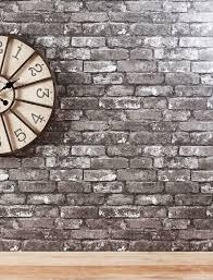 Next Bedroom Wallpaper Grey Brick Wallpaper From Next Shades Of Grey Pinterest Grey