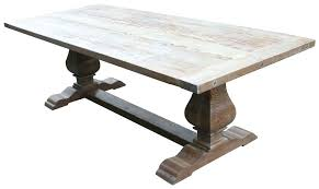 absolutely ideas reclaimed wood trestle dining table 4 with bench reclaimed wood trestle dining table salvaged