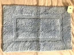 pottery barn kids light blue basic bath rug mat bathroom rugs reviews