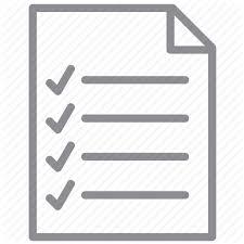 Checklist Exam Form Items Notepad Task List Test Icon