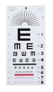Snellen Eye Chart For Phone Illiterate Snellen Eye Chart 20 Foot Distance 1 Each