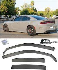 2011 2019 Dodge Charger In Channel Style Smoke Tinted Side Vents Rain Guard Window Deflectors Window Deflectors Dodge Charger Extreme