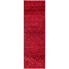 safavieh adirondack red black 3 ft x 18 ft runner rug