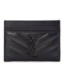 saint lau grain de poudre matele chevron credit card case black 250359