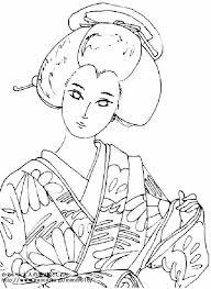 日本人形2 かわいい大人の塗り絵としおり