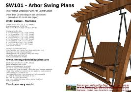 Small Picture home garden plans SW101 Arbor Swing Plans Construction Graden