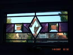 coloured bevelled design for a fan light