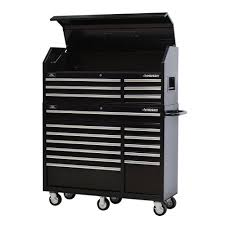 18 drawer tool chest and rolling tool cabinet combo in black