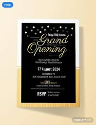 Grand Opening Invitations Free Grand Opening Invitation Card Grand Opening