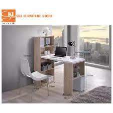 l shape furniture. SKL Furniture 6139 2in1 L-SHAPE STUDY TABLE WITH BOOK SHELF (Natural Oak) L Shape E