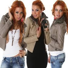 las of biker leather jacket look leatherette fake fur collar faux fur warm 32 34 36