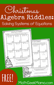 looking for a simple yet engaging way to practice solving systems of equations this december