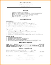 Blank Resume Templates For High School Students Education Free