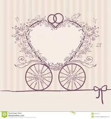 design templates for invitations wedding invitation coach design template stock vector