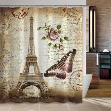 Amazon Com Uphome 72 X 72 Inch Retro Vintage Paris Eiffel Tower