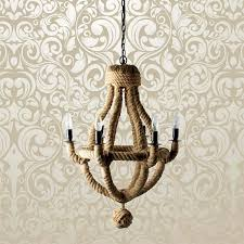 culinary concepts small natural rope chandelier