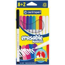 <b>Фломастеры CENTROPEN</b> Erasable, 8 цветов +2 стирающих ...