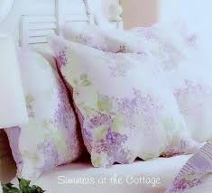 and a white bedskirt with the old painted cottage furniture king through in the background to show how lovely this is for a shabby chic cottage home