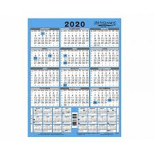 Year At A Glance Calendars At A Glance 3 Year Wall Calendar 2020