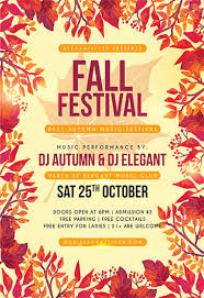 Fall Festival Flyer Free Template Fall Flyer Fall Flyer Templates Fall Festival Flyer Psd Template