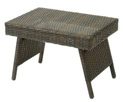round wicker end table medium size of end table design black outdoor wicker end tables drum