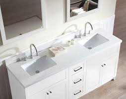 ariel hamlet 73 double sink vanity set with white quartz countertop in white