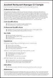 Cover Letter For Restaurant Manager Gallery Of Cover Letter
