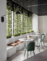 Biophilic Design Examples Garden Wall Design In A Minimal Dining Area Great Example