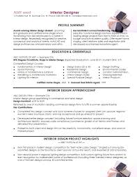 Interior Designer Sample Resume Sample Resume For Interior Designer Fresher Template Example Photo 55