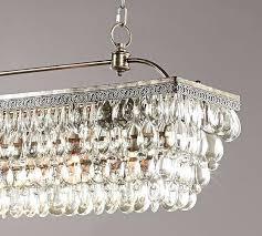 scroll to next item crystal drop chandelier linear rectangular glass