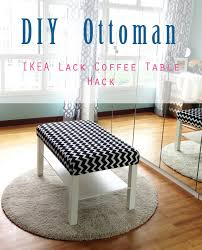 Ikea Lack Coffee Table Home Style Organize Diy Ottoman Ikea Lack Coffee Table Hack