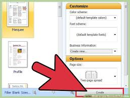Microsoft Publisher Format How To Use Microsoft Publisher With Pictures Wikihow