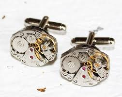 steunk cufflinks made with citizen watch movements e in deluxe leatherette gift box cool gadget gift choice for him 50