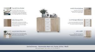Schlafzimmer Kommode Nako 06 Farbe Eiche Weiß Abmessungen 83 X 130 X 41 Cm H X B X T