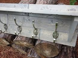 """Coat Rack Part Coastal Oak Designs Rustic Coat Rack in """"Classic Gray"""" Part 100 62"""