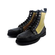 sebago genuine sebago times filson kettle b65875 black and waxed canvas kettle moccasin boots work boot