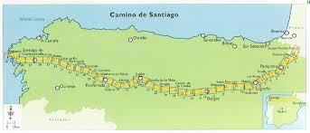 melbourne map centre spain hiking Camino De Santiago Map 2 4 week delay if out of stock camino de santiago mapa
