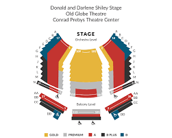 Old Globe Seating Chart Donald And Darlene Shiley Stage Old Globe Theatre Conrad