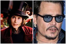 Actor Johnny Depp experienced several cavities and major tooth decay after  playing the role of Willy Wonka in Charlie and the Chocolate Factory (2005)  due to so many years spent in a