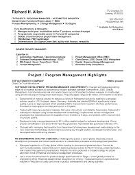 Free It Program Manager Resume Templates At Allbusinesstemplates
