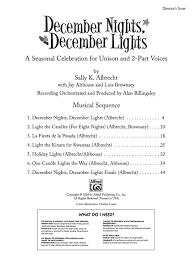 December Nights December Lights Song December Nights December Lights Preview Pack Book Cd