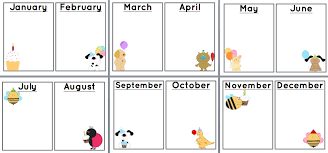 Free Printable Charts For Classroom Sunshine And Teaching Free Printable Birthday Chart